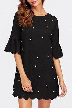 Black White Graphic Stripe Faux Leather Drop Waist Sheath 124 mv Dress S M L
