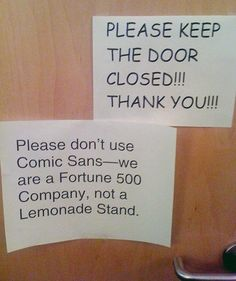 Funny pictures about The Problem With The Comic Sans Font. Oh, and cool pics about The Problem With The Comic Sans Font. Also, The Problem With The Comic Sans Font photos. The Words, Police Comic, Funny Note, Jokes, Funny Memes, Funny Ads, Funniest Memes, Fun Funny, Cat Memes