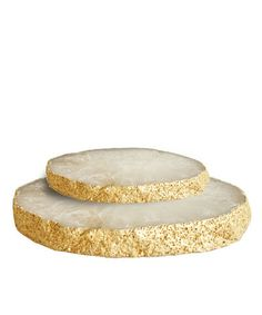 High Street Market - Agate Platter with Gold Leaf Edge $58 - DIY version with Wood Slices