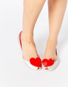 Image 1 - Vivienne Westwood For Melissa - Queen Pearl - Chaussures plates à cœur rouge
