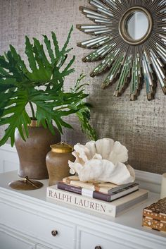 Easy Decorating with Palm Fronds, Branches and Greenery