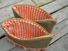 Wool & Gingham Pouches