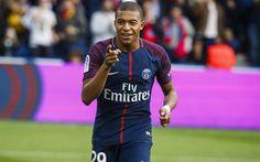 Download wallpapers PSG, Kylian Mbappe, match, soccer, football stars, Ligue 1, Paris Saint-Germain, Mbappe, footballers