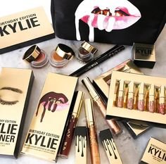 kylielyed Birthday Limited Gold Edition Collection kylielyed Jennering Lipstick Kit Matte Liquid Lipstick kylielyed Cosmetics