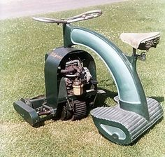 Anzani - The very art deco looking LawnRider, which looks like a cool alternative for bikers when they have to mow the lawn.