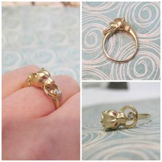 Panther Ring in Yellow Gold