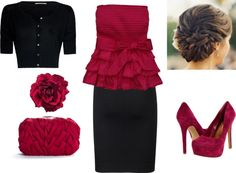 """""""PinkBlack"""" by chattertongirl ❤ liked on Polyvore"""