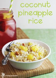 Start spring off right with this sweet Coconut Pineapple Rice recipe with macadamia nuts added in. This delicious dish makes the perfect side to your favorite fish or chicken dinner.