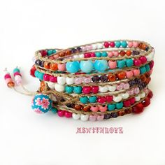 Handmade colorful six wrap bracelet bohemian wrap by MSwithlove