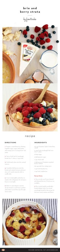 Get your brunch on with this Triple Crème Brie & berry strata by @freutcake.