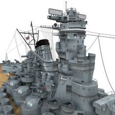 Japanese Battleship Yamato Model available on Turbo Squid, the world's leading provider of digital models for visualization, films, television, and games. Yamato Class Battleship, Bismarck Battleship, Model Warships, Military Drawings, Capital Ship, Navy Ships, Royal Navy, Scale Models, Musashi