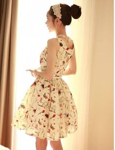 Wholesale Casual Dresses - Buy Womens New Floral Printed Sleeveless Chiffon Summer Pleat Belted Swing Dress, $13.65 | DHgate      ASHLEY