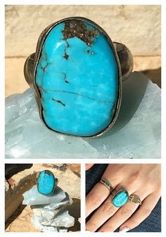Turquoise Ring Sterling Silver – Yourgreatfinds