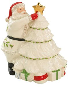Lenox Santa Christmas Cookie Jar                              …