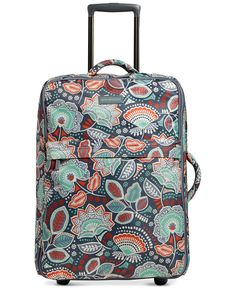 "Vera Bradley 26"" Foldable Rolling Suitcase in Nomadic Floral"