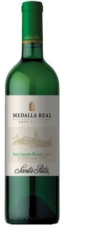 """Santa Rita Medalla Real Sauvignon Blanc. """"The great fruit expression shines the spotlight on grapefruit and lemon blossom citrus notes combined with the classic gooseberry and the distinctly mineral finish that is characteristic of the Leyda Valley. Elegant and compact, this is a tremendously balanced wine with vibrant acidity that spreads over the palate as it develops its fruity components and delivers its long fruit-driven finish."""" http://www.santarita.com/international/"""