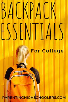 Backpack Essentials for College www.parentinghighschoolers.com College School Supplies, College Fun, College Life, College Hacks, College Success, College Classes, College Room, Dorm Room, Backpack Essentials