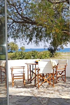 Villa Memories is a seafront Villa in front of a beautiful and quiet shingle beach, 300 meters from the organised sandy beach of Grammeno, . Crete Holiday, Summer Vacations, Nature View, Crete Greece, Next Holiday, Lush Garden, Enjoying The Sun, Outdoor Furniture Sets, Outdoor Decor