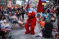 Elmo has it rough.
