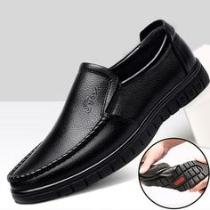 BIMUDUIYU Fashion Comfortable Breathable Soft Genuine Leather Loafers Shoes Mens Moccasin Shoes Casual Falts Men Winter Shoes Outfit Accessories From Touchy Style Men Shoes With Jeans, Mens Vans Shoes, Mens Shoes Boots, Leather Loafer Shoes, Loafers Men, Men's Leather, Shoes Sneakers, Shoes Women, Branded Shoes For Men