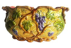 Majolica Grapes Jardinière on OneKingsLane.com