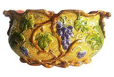 Majolica Grapes Jardini�re on OneKingsLane.com