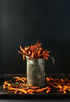 Cajun Baked Sweet Potato Fries. Made 2/2015 - very good!! Used spiralizer to make curly fries and used this as seasoning.