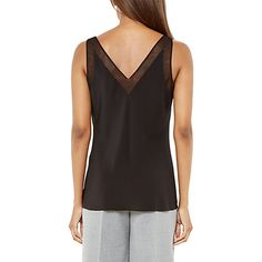 Buy Ted Baker Leiaa Silk Mesh Top, Black Online at johnlewis.com