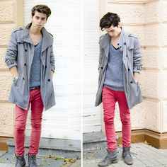 Red without snow! (by Chris S.) http://lookbook.nu/look/4381885-Red-without-snow