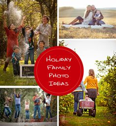 Holiday Family Photo Ideas - Great ideas and simple ones too!