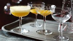 This famous cocktail was invented at Harry's Bar, Venice, in The combination of peach juice and fizz is almost acceptable at breakfast. Bellini Cocktail, Champagne Cocktail, Champagne Glasses, Sparkling Wine, Peach Bellini Recipe, Alcoholic Cocktails, Drinks, Wedding Buffet Food, Famous Cocktails