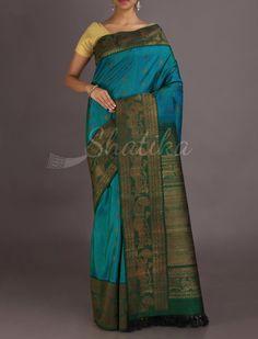 Ridhima Tear Drop Bel Border Elegant #JuteSilkSaree