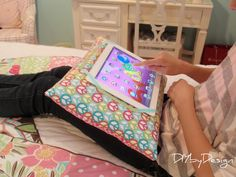 DIY: iPad Pillow Tutorial-why spend $20 on The Go-Go Pillow when you can make your own-and prettier too for a one of a kind  holiday gift!
