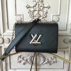 4a45fa080748 Louis Vuitton Twist MM Epi Leather M50282 Black Louis Vuitton