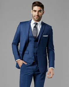ecbd005ef0c Generation Tux Mystic Blue Peak Lapel Suit Blue Tuxedo Blue Suit Wedding