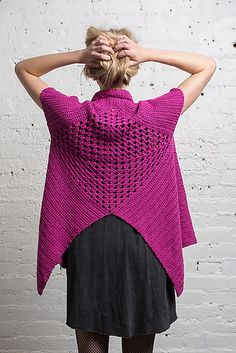 2015 The Crochet Awards Judges' Nomination - Best Vest - Swing Vest pattern FOR SALE by Doris Chan by susanne Crochet Coat, Crochet Jacket, Crochet Cardigan, Crochet Clothes, Crochet Sweaters, Interweave Crochet, Crochet Shawls And Wraps, Vest Pattern, Free Pattern