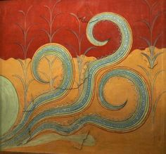 Minoan wall painting at Knossos