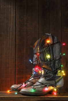 great idea! =) Maybe family pic with everyone wearing boots- lights around the boots