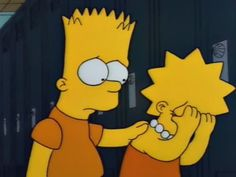 Awwwww!!!! Lisa's crying because she's afraid she'll be expelled from school! Even Bart feels bad for her!