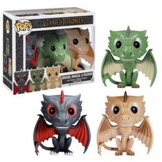 Funko Pop! Game of Thrones Exclusive 3 Pack of Dragons (Drogon, Rhaegal, Viserion): Amazon.co.uk: Toys Games