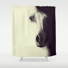 Come to me, my dream.. Digital illustration Horse / Shower Curtain by LilaVert