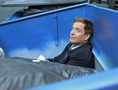 """Filming NCIS Season 10 Episode 14 - """"Canary"""" ~ Why is Tony in a dumpster? Via Michael Weatherly's Twitter on February 5, 2013"""