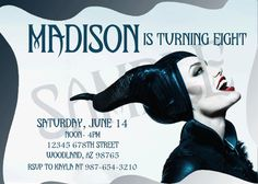 Personalized Maleficent Invitation by MalignantMom on Etsy, $10.00