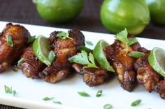 Asian Chicken Wings with Lime, Ginger, and Soy Sauce | daisysworld.net