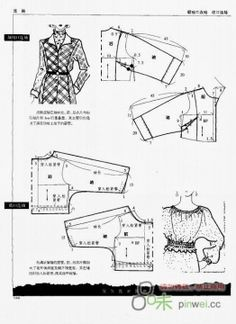 Chinese method of patternmaking -  One-piece sleeve .Basic construction, models - Svet Lana - Picasa Albums Web