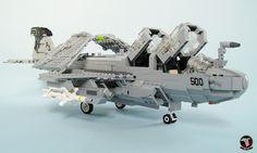 EA-6B Prowler of VAQ-141 Shadowhawks #flickr #LEGO #MOC #plane