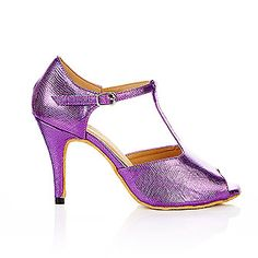 Luna purple snakeskin PU latin dance shoes by Vivaz Dance Australia. RRP $74.95