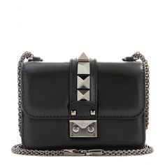 Valentino - Lock Noir Mini leather shoulder bag - More than just a bag, the Valentino 'Lock' is a statement in itself. - @ www.mytheresa.com