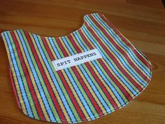 Love this idea for DIY bibs using an adjustable fastener