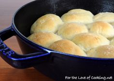 Buttery Dinner Rolls - For the Love of Cooking - the dough starts in the bread machine, which is perfect!